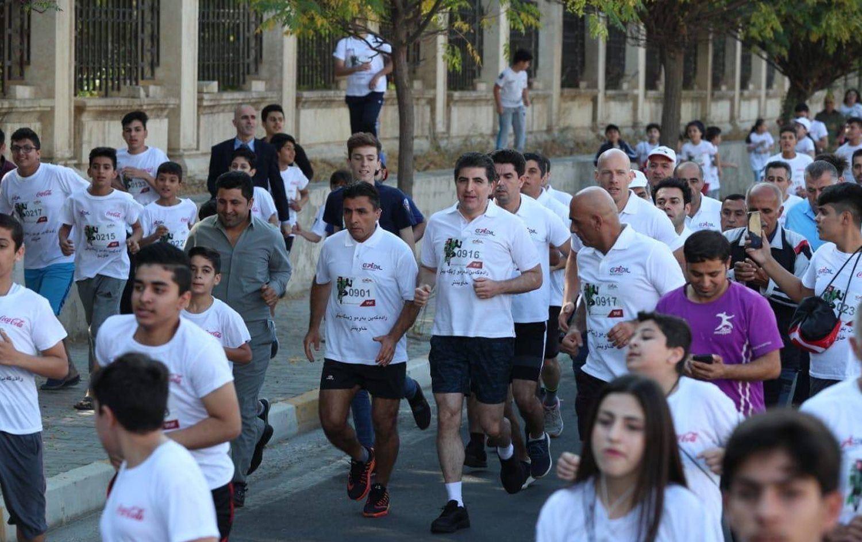 Bi beşdariya Nêçîrvan Barzanî 8emîn Maratona Navdewletî ya Hewlêrê destpê kir