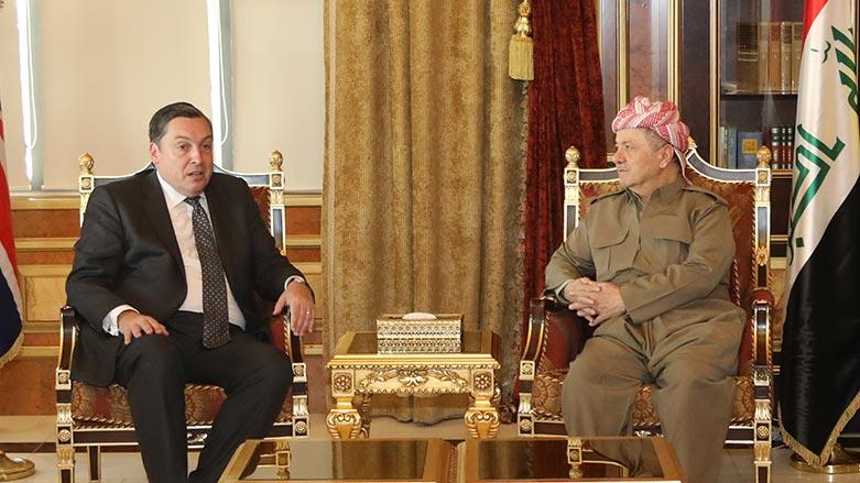 Başkan Barzani ve İngiliz Büyükelçi'den Rojava konusunda ortak vurgu