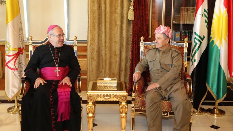 Vatikan'dan Peşmerge'ye övgü Başkan Barzani'ye teşekkür