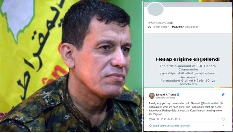 Mazlum Kobani'nin twitter hesabına Türkiye'den engel