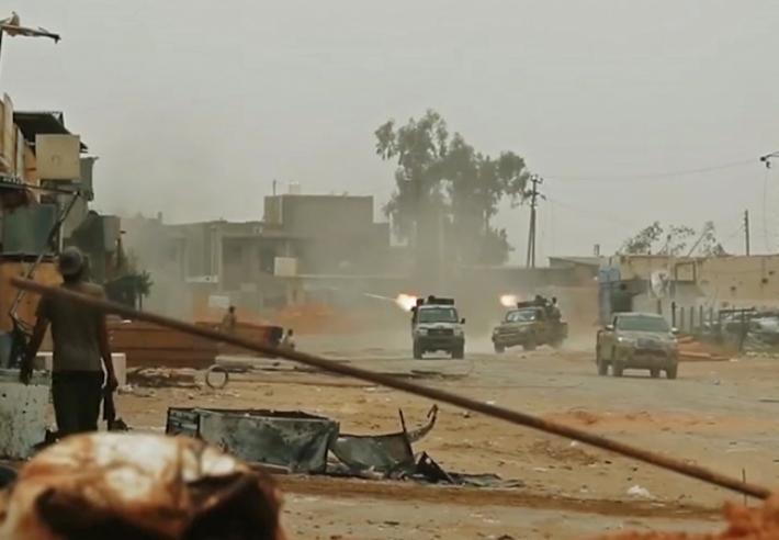 Libya Ordusu'ndan Hafter güçlerine bombardıman