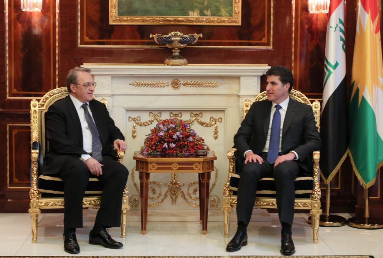 Neçirvan Barzani, Bogdanov'u Erbil'de kabul etti