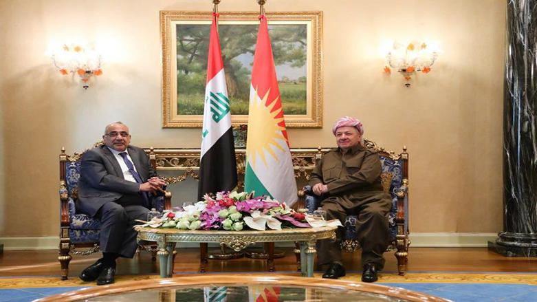 Başkan Barzani, Adil Abdulmehdi'yi kabul etti