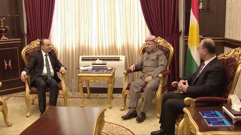 Başkan Barzani-Baydemir ile bir araya geldi