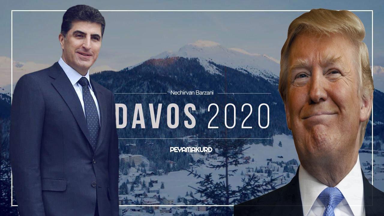 Neçirvan Barzani ile Donald Trump'ın Davos görüşmesi