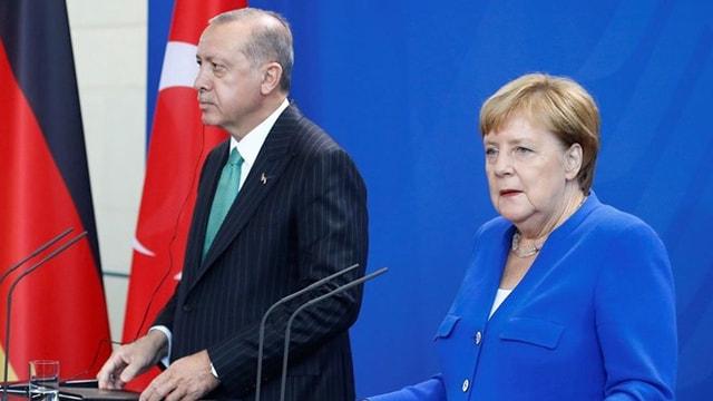 Erdoğan-Merkel, Suriye ve Libya'yı görüştü