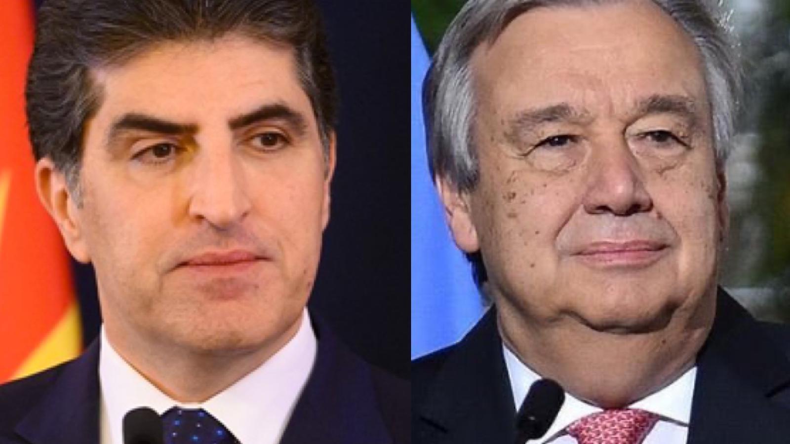 Barzani, Antonio Guterres ile bir araya geldi