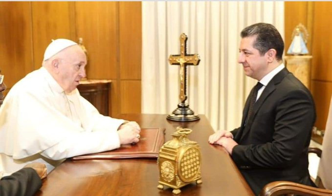 Barzani Roma'da Papa ile bir araya geldi