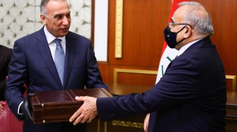 Mustafa Kazimi Abdulmehdi'den görevi teslim aldı
