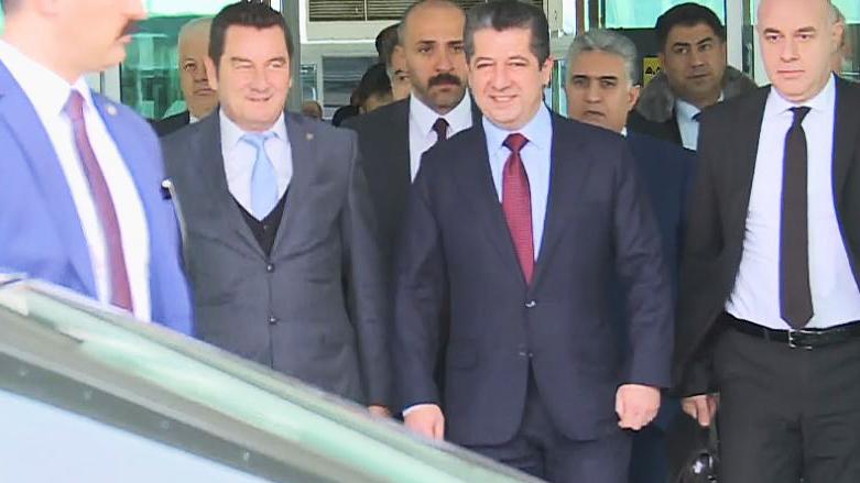 Mesrur Barzani Ankara'da